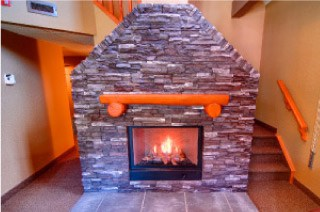Mountain Loft Fireplace