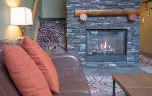 Mountain Loft Fireplace